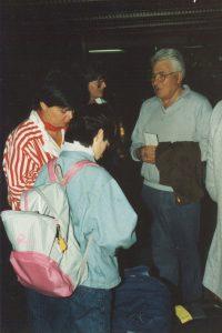 Alfred Auerbach, Melanie und Anne Westhues auf dem Flughafen Tel Aviv 1986