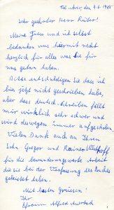 Brief von Alfred Auerbach