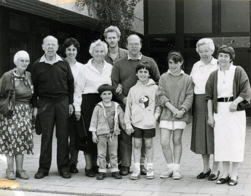 Ilse Grunewald 1989 zu Besuch in Telgte