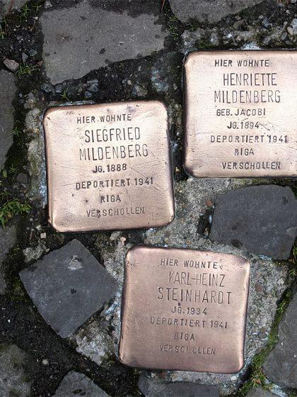 Stolpersteine Mildenberg Steinhard
