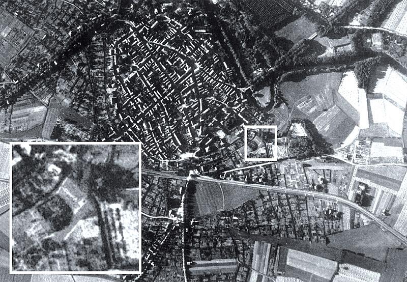 Telgte Luftbild von 1943