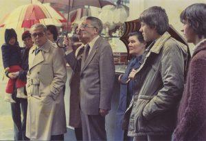 1981 Einweihung der Gedenktafel