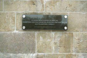 Gedenktafel am Emswehr Telgte