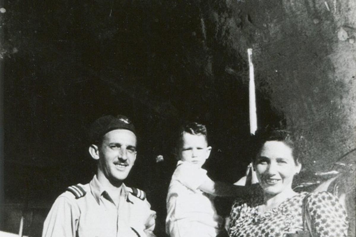 Hans und Fritzi Mildenberg in Israel mit Sohn Rafi